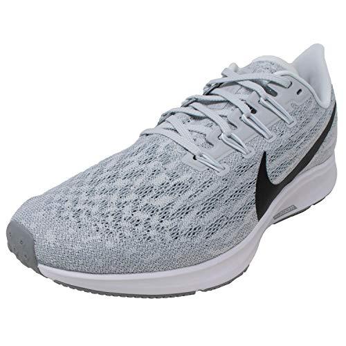 Nike Men's Air Zoom Pegasus 36 Tb Platinum Tint/Black Wolf Grey Ankle-High Mesh Running - 12M