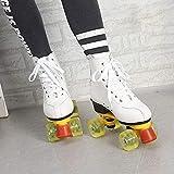 YUNWANG Patines Quad, Ideales para Principiantes, Patines Cómodos para Niñas Y Niños Deportes Al Aire Libre, Zapatos De Patinaje con Cordones