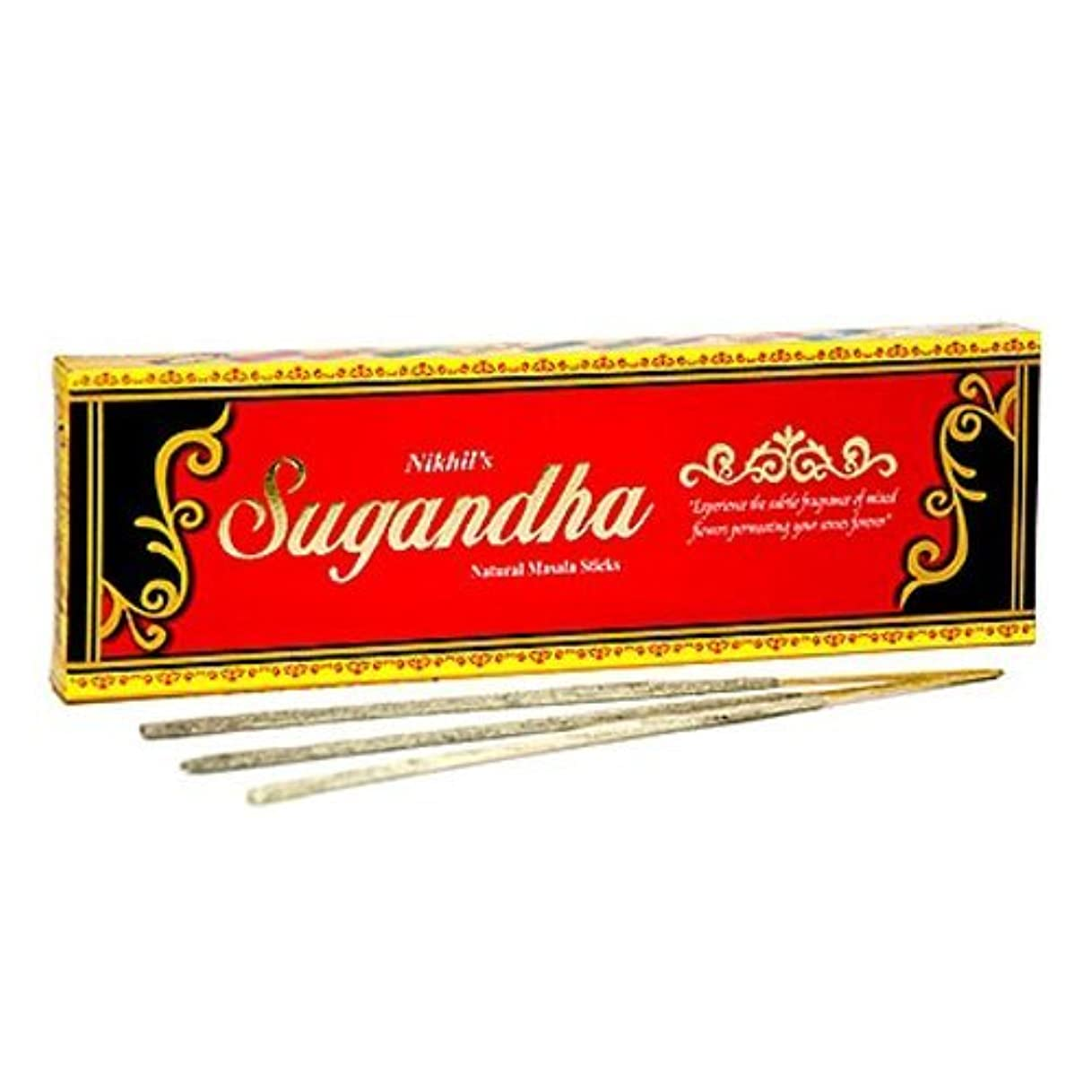 機密セージ適用済みNikhil Sugandha Natural Incense - 2 Packs, 50 Grammes per Pack