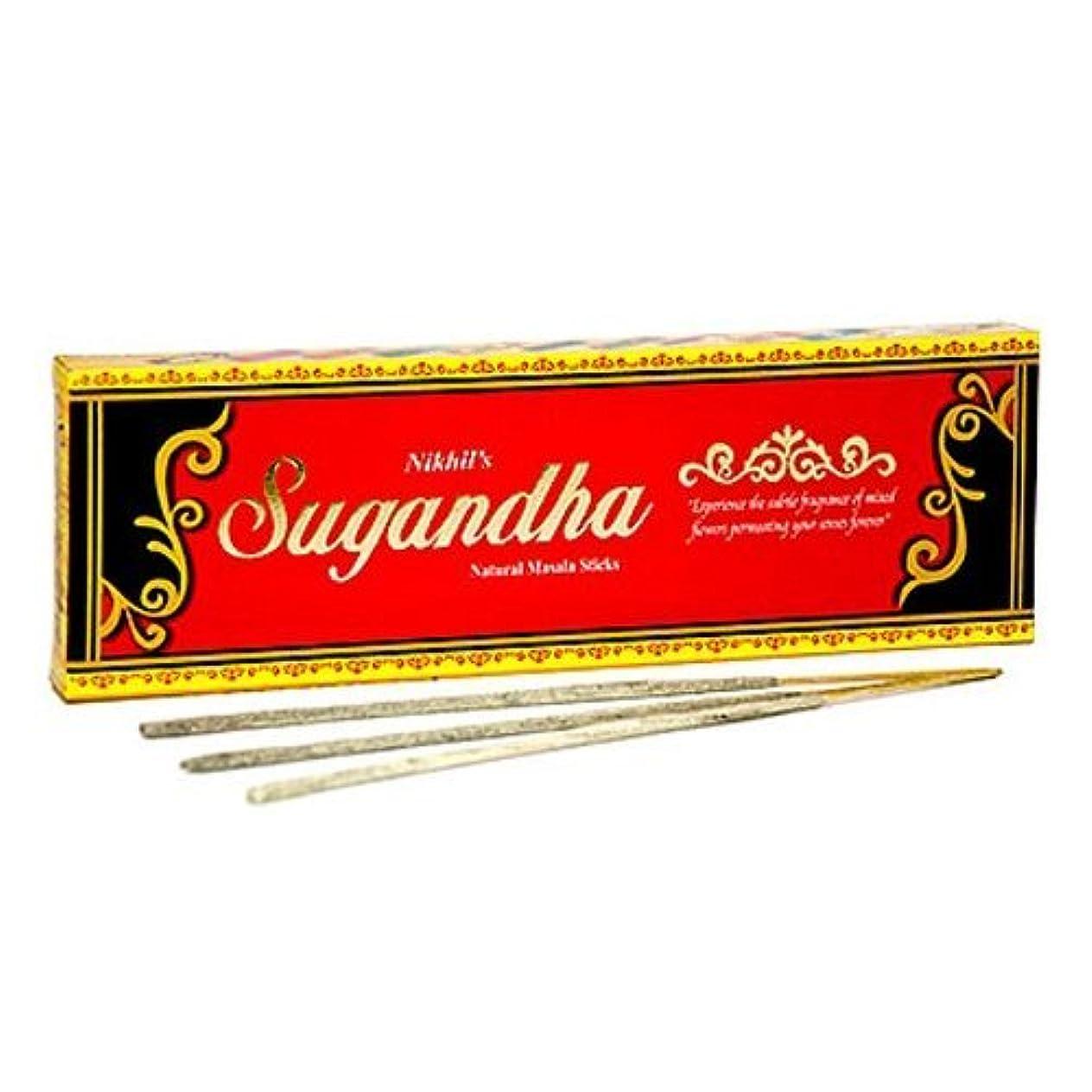 尽きる切り刻む他のバンドでNikhil Sugandha Natural Incense - 2 Packs, 50 Grammes per Pack