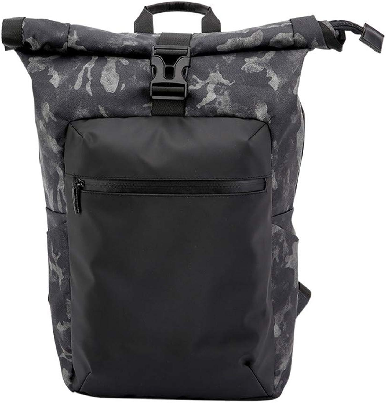 HUDUI Diebstahlsichere Wasserdichte Camouflage Herrenrucksack geeignet für Laptop-Rucksack Outdoor-Reitrucksack Mode lssig Sportrucksack