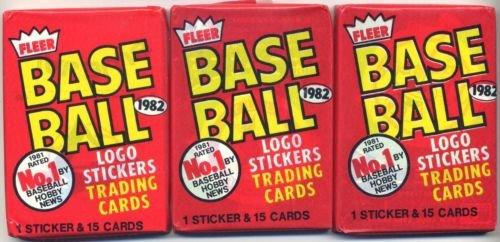 Lot of 3 1982 Fleer Baseball Wax Packs (45 Cards Total) Possible Cal Ripken Jr. Rookie Card