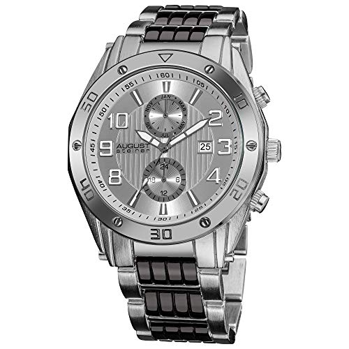 August steiner Herren-Armbanduhr Man AS8070SS Analog Quarz
