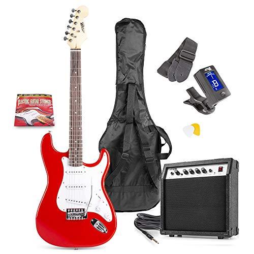 MAX GigKit Conjunto Guitarra Eléctrica (Rojo)