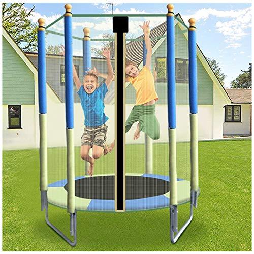 uxinse Cama elástica para niños de 1,5 m, con malla de salto y cubierta de resorte, resistente al desgaste y anti-UV, saltos en interiores y exteriores