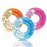Intex Balsa inflable colorida transparente para piscina (paquete de 3)   59251EP