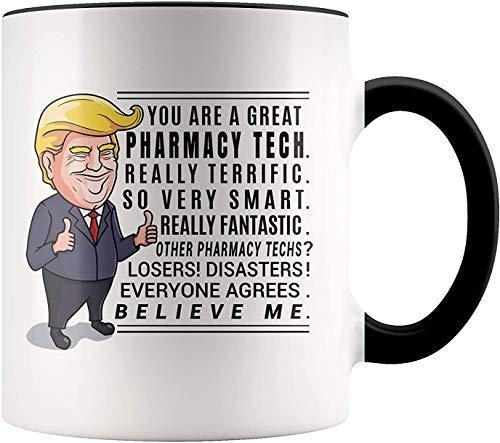 11 oz Koffie Mok, Thee Beker, Trump Mok Apotheek Technicus Geschenken Apotheek Tech Geschenken