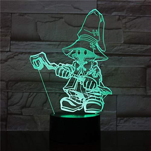 Final Fantasy Cartoon Movie Game Charakter Lampara Toy3D LED Nachtlicht Tischlampe Action Figure Kid Puppe Geschenk