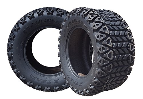 Arisun 23 X 10.5-12 Dot All-Terrain Tire For Golf Carts & Atv'S (6 Ply Rating) - 1, Set Of 2 Or 4 (23 X 10.5-12, Set Of 2 Tires)