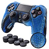 Pandaren PS4 Controller Skin Studded Anti-Slip Silicone PS4 Controller Cover Set for PS4 /Slim/PRO...