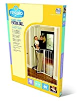 Regalo Easy Step Extra Tall Walk Thru Gate, White Jumbo Size 2-Gate Value Pkg by Regalo [並行輸入品]