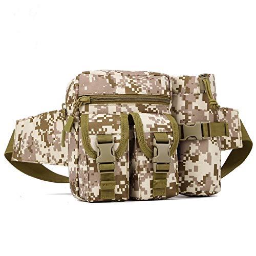 YFCTLM Laufband Hüfttasche Outdoor-Sport-Wasser-Tasche Wandern Jagd Taschen Camping Klettern wasserdichte Taschen Multi-Funktions-Paket (Color : Y101 Desert)