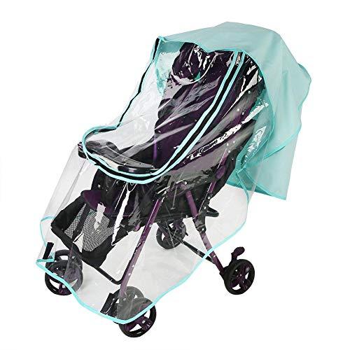 Universele kinderwagen, weerbescherming, regenbescherming, wind stof, zonwering, ritssluiting, open voor kinderwagen, joggers, kinderwagen L, lichtgroen