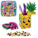 LEGO DOTS le Pot à Crayons Ananas, Kit de Fabrication de Décoration, Loisir Créatif pour Fille et Garçon à Partir de 6 ans, 351 Pièces, 41906