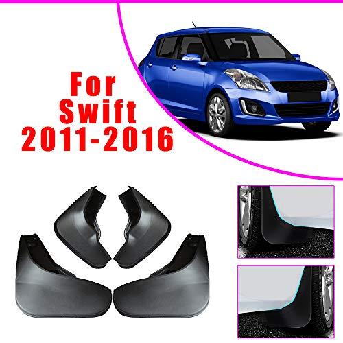 Cobear Auto Schmutzfänger Kotflügel passt für S UZUKI Swift 2011-2016 Vorne Hinten Gummi-Spritzschutz Car Styling & Karosserie-Anbauteile Schwarz 4 Stück