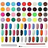 Quazilli 36 Colores Esmaltes Semipermanentes Pastel,Pintauñas Gel UV ,Uñas de Gel Kit Completo,Esmalte Semipermanente Profesional,Pintauñas Semipermanente Francesa