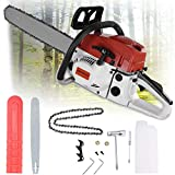 Best Gasoline Chainsaws - Huayishang 52CC 2-Cycle Gas Powered Chainsaw, 20-Inch Chainsaw Review