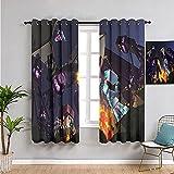 Cortina de dormitorio con 2 paneles, diseño de dragón de extremo fresco M-ine-craft utilizado para sala de estar tablero de refuerzo dormitorio 84 x 54 pulgadas