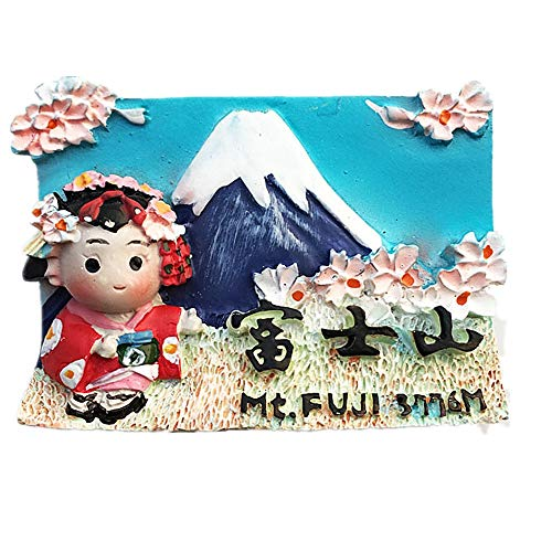 3D Mount Fuji Japan Kühlschrankmagnet, Souvenir, Geschenk, Sammlung, Heim- und Küchendekoration, Magnetaufkleber, Japan Kühlschrankmagnet