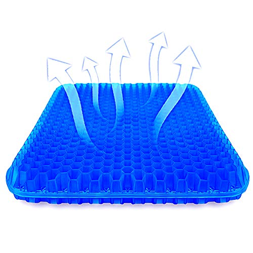 Gel Seat Cushion,SUPTEMPO Enhanced Seat Cushion,Double Gel Egg Honeycomb Design Thick Seat Cushion,for Pressure Relief Back Tailbone Pain,Car Travel...