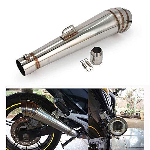 An Xin Universal GP Stainelss - Silenciador de escape de acero con movimiento DB Killer para motocicleta Dirt Pit Bike Street Bike Scooter ATV Racing