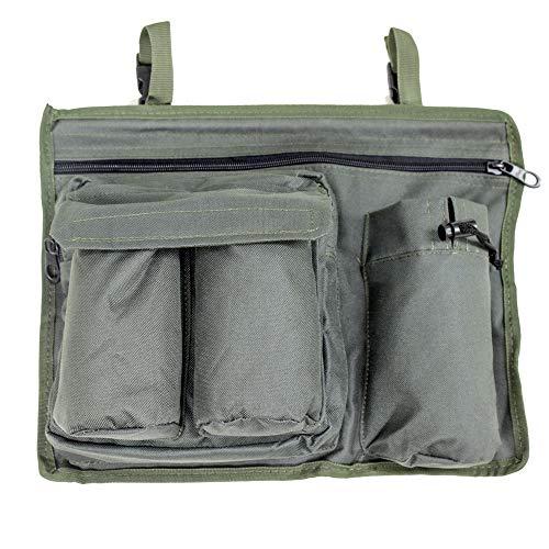 Lucx® Organizer Tasche Seitentasche für Smartphone - 600D PVC / 37x28cm für Bedchair Angelliege Karpfenliege Universal passend auch für Camping Liegen
