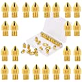 LUTER 24PCS MK8 Extruder Nozzles 3D Printer Nozzles 0.2mm, 0.3mm, 0.4mm, 0.5mm, 0.6mm, 0.8mm, 1.0mm with Free Storage Box for Makerbot Creality CR-10 Ender 3 5