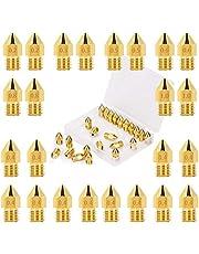 LUTER 24PCS 3D printer mondstuk MK8 Extruder Nozzle 0,2 mm, 0,3 mm, 0,4 mm, 0,5 mm, 0,6 mm, 0,8 mm, 1 mm met bewaardoos voor Makerbot Creality CR-10 Ender 3 5