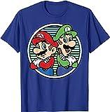 NBAOBAO Mario & Luigi - Camisetas de manga corta con impresión 3D de Mario & Luigi, Bros-1, 160