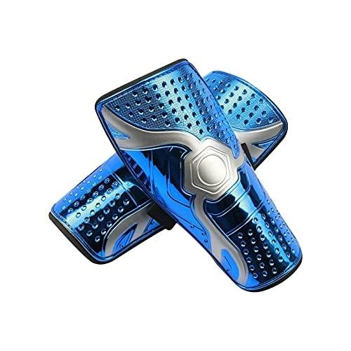 TEAP Espinilleras de fútbol infantiles, ligeras y transpirables, para niños y hombres, ofrecen una protección completa para las piernas de los niños.