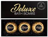 BRUBAKER Cosmetics - Bombes de bain XXL/Boules effervescentes - 3 Pièces - Coffret cadeau 'Deluxe' - Fait main - Végan - Ingrédients naturels