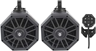 """Pro Armor UTV Tower Speakers Powered Audio System 8"""" LED Pods with Bluetooth Media Controller"""