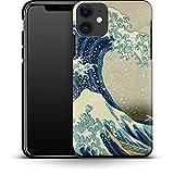 Premium - Carcasa para iPhone 11 (Gran Wave Off), diseño de Kanagawa de Hokusai