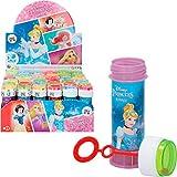 ColorBaby - Pack 36 pomperos infantiles, pomperos Princesas Disney, 60 ml, juguetes Princesas Disney, decoración cumpleaños, fiesta princesas, juguetes Disney
