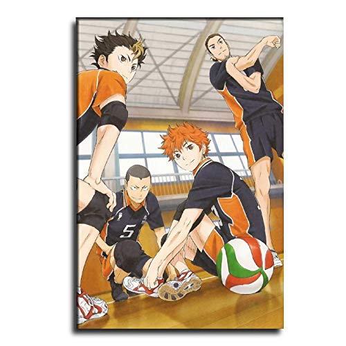 HFGJ Haikyuu Wallpaper Canvas Art Poster and Wall Art Picture Print Modern Family Bedroom Decor Posters 20×30inch(50×75cm)