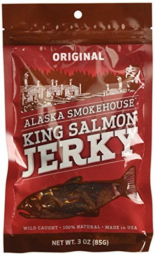 Alaska Smokehouse Salmon Jerky, 3-Ounce Bag