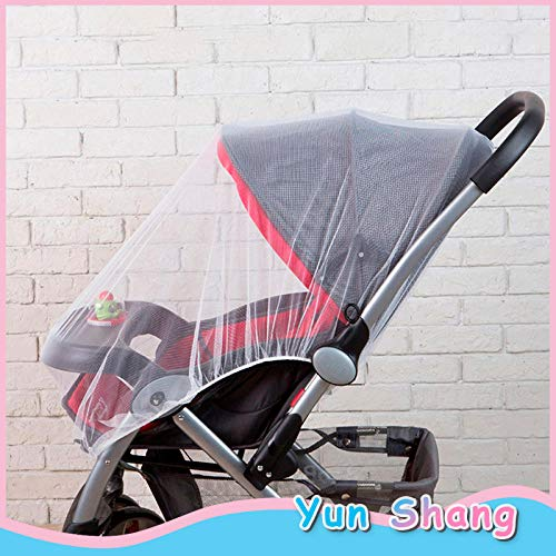 HYWLX 150cm Baby Cart Mosquito Net Stroller Mosquito Net Infants Baby Girl Boy Pushchair Mosquito Insect Net Safe Cart Mosquito Mesh