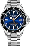 Stuhrling Original Mens Swiss Automatic Stainless Steel Dive Watch, with Adjustable Stainless Steel Bracelet