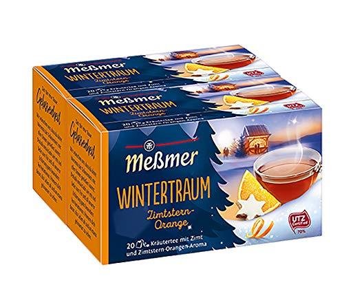 Meßmer Wintertraum, Zimtstern/Orange 20 TB, 2er Pack (2 x 40 g Packung)