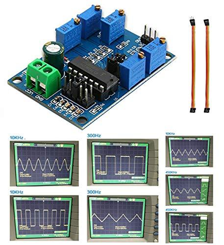 Youmile Signalgenerator-Modul ICL8038 Mittel-Niederfrequenz-Signalquelle 10Hz-450KHz Dreieck Rechteckwelle Dreifach-Signalgenerator-Modul + Dupont-Kabel Buchse zu Buchse, Stecker zu Buchse 3 PIN