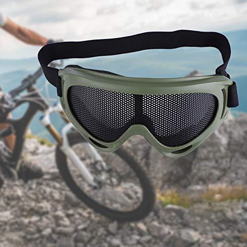 Changor Apropiado táctica Mirada sorprendida, Motocicleta Gafas de protección Tierra 17.5 * 8cm Metal Malla Arena Partículas con Planchar
