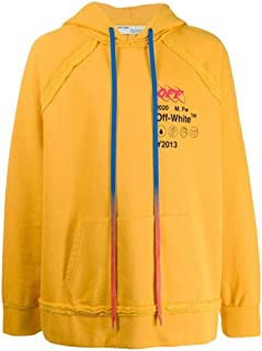 OFF-WHITE Luxury Fashion Mens OMBB057F19E300166010 Yellow Sweatshirt | Fall Winter 19