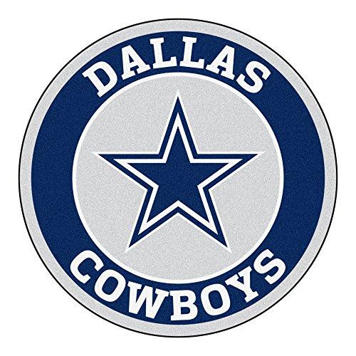 FANMATS 17956 NFL Dallas Cowboys Roundel Mat, Black, 27'
