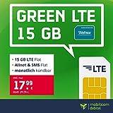 Handyvertrag o2 green LTE 15 GB - Internet Flat, Allnet Flat Telefonie & SMS in alle Deutschen Netze, EU-Roaming, mtl. kündbar