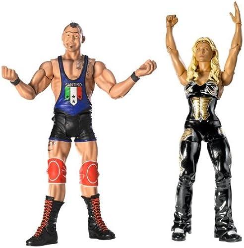 Mattel R2258 - WWE - Basisfiguren 2er-Pack Santino Marella & Beth Phoenix