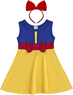 Baby Girls Princess Snow White Mermaid Cosplay Birthday Pageant Fancy Costume Bowknot Summer Tutu Dress Up Outfit