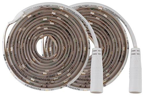 MÜLLER-LICHT 400225, LED Strip mit Automatischem Ein/aus Bewegungssensor und integriertem Dämmerungssensor, Plastik, 7.5 W, weiß, 0.2 x 0.7 x 150 cm