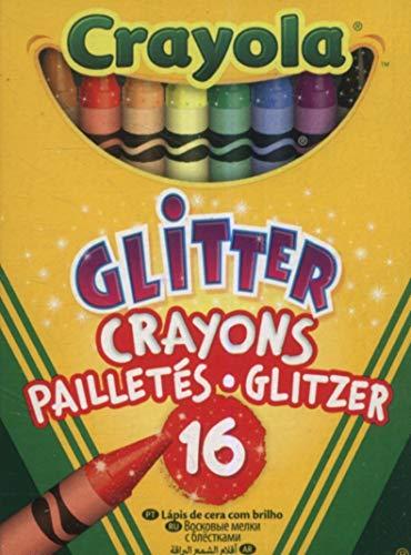 Crayola Bulk Buy Glitter Crayons 16/Pkg 52-3716 (6-Pack)