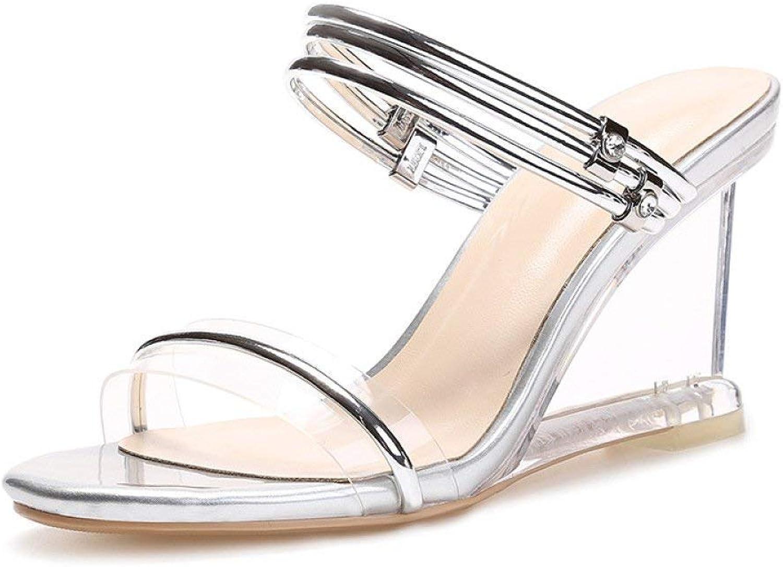 Fuxitoggo Summer Men's Sandal Breathable Men's shoes Leather New Hollow shoes Men's Hole shoes Men's shoes (color   Silver, Size   35)