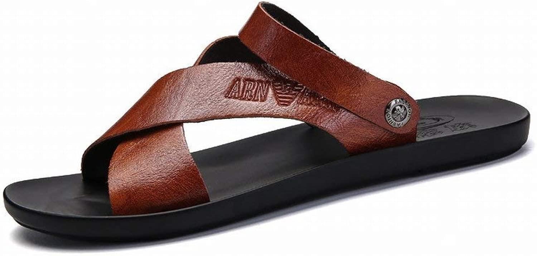 FuweiEncore Seali Trend Casual Seali da Uomo indossabili Comfort tutti Fit Slipper (Coloreee   Marronee, Dimensione   44)